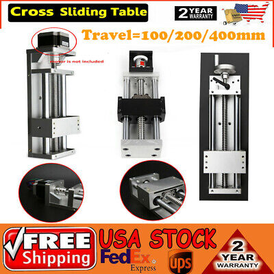 Cnc Manual Sliding Table Linear Stage Cross Slide Module 1605 Ballscrew Xyz Axis