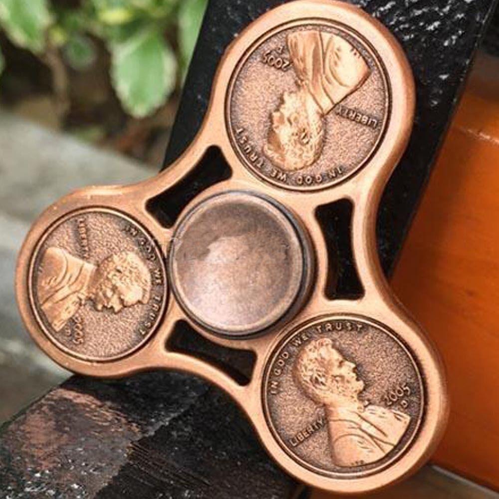 Fidget Spinner Hand Toy Stress Reducer - EDC Desk Focus ADHD -  Coin Bearings
