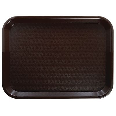 Brown Fast Food Tray - HUBERT Fast Food Tray Cafeteria Tray Brown Polypropylene - 18