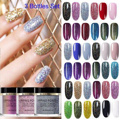 Nail Art Starter - BORN PRETTY Nail Art Dipping Powder Liquid Glitter Holographic Nail Starter Kits