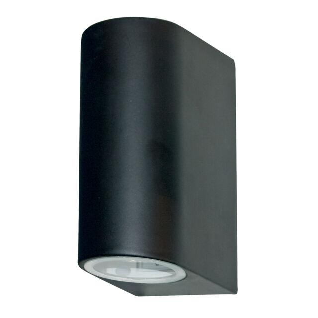 Searchlight 8008-2bk-LED Matt Black Finish Outdoor Wall Up/Downlight IP44