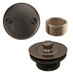 Oil Rubbed Bronze Lift And Turn Tub Drain Bathtub Conversion Assembly Kit Brass