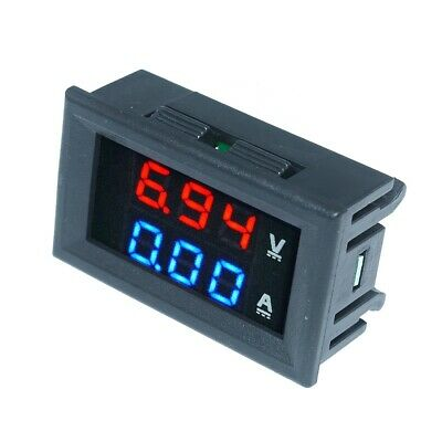 Led Dc 100v 100a Blue Red Dual Digital Voltmeter Ammeter Panel Amp Volt Meter