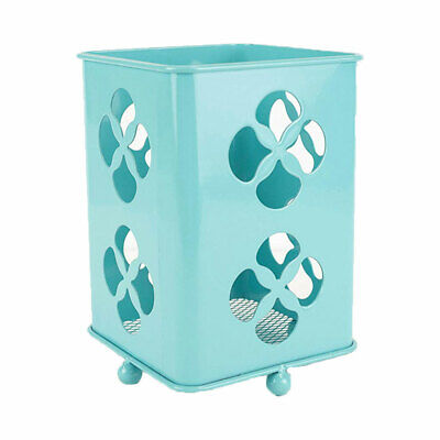 Home Basics Powder Coated Steel Kitchen Silverware And Cutlery Holder, Turquoise
