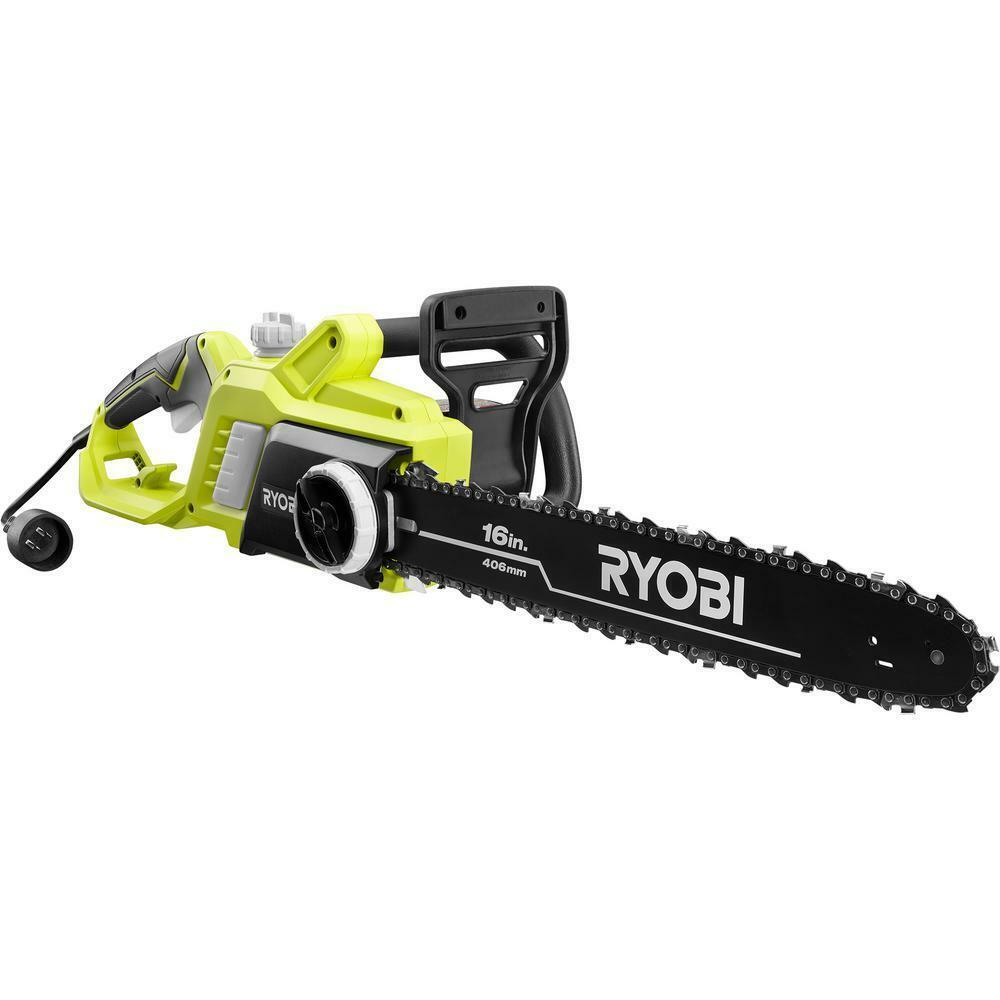 13 Amp Electric Chainsaw Corded 16 inch Bar and Chain Low Ma