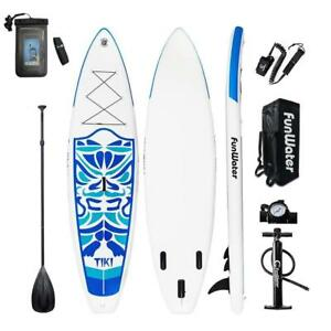 "FunWater Inflatable 10'6×33""×6"" Ultra-Light (17.6lbs) SUP for All Skill Levels Everything"