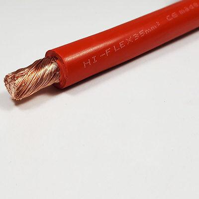 35mm2 Red Flexible PVC Battery Welding Cable 240 A Amps 1M 1 M Length Car Auto