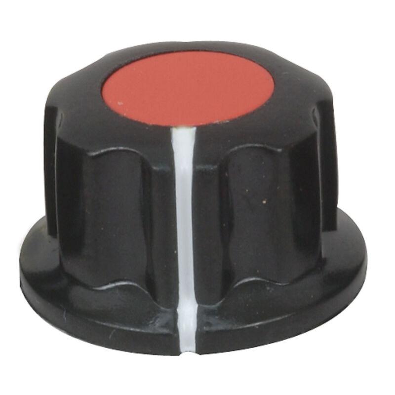 "Potentiometer Knob Black/Red White Pointer Plastic 1/4"" Shaft  Jk-904A  10 pcs"