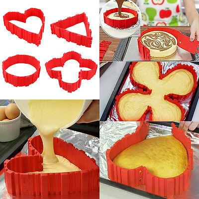 4Pcs Set Silicone Cake Mold Bake Snakes Create Cake Shape Nonstick Tray