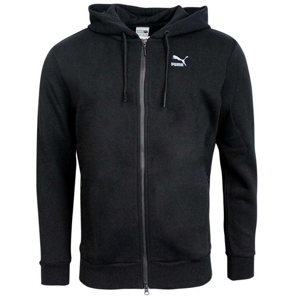 Men's Clothing Puma Evo Mens Black Zip Up Training Hoody Hooded Track Top Jacket 569205 01 P5F Activewear