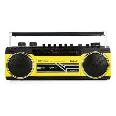 Riptunes Retro AM/FM/SW Radio + Cassette Boombox with Bluetooth & USB/SDHC Port ()
