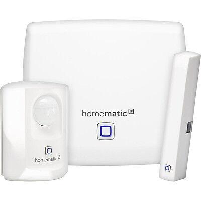 Das Starter-Set beinhaltet Türkontakt, Bewegungsmelder und Funkfunktion. (© Homematic)