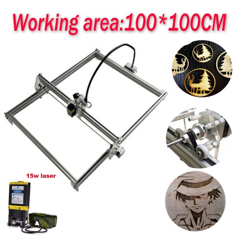 100x100 CNC Laser Engraver Kit Router Carving Milling Machine&15W Laser Module