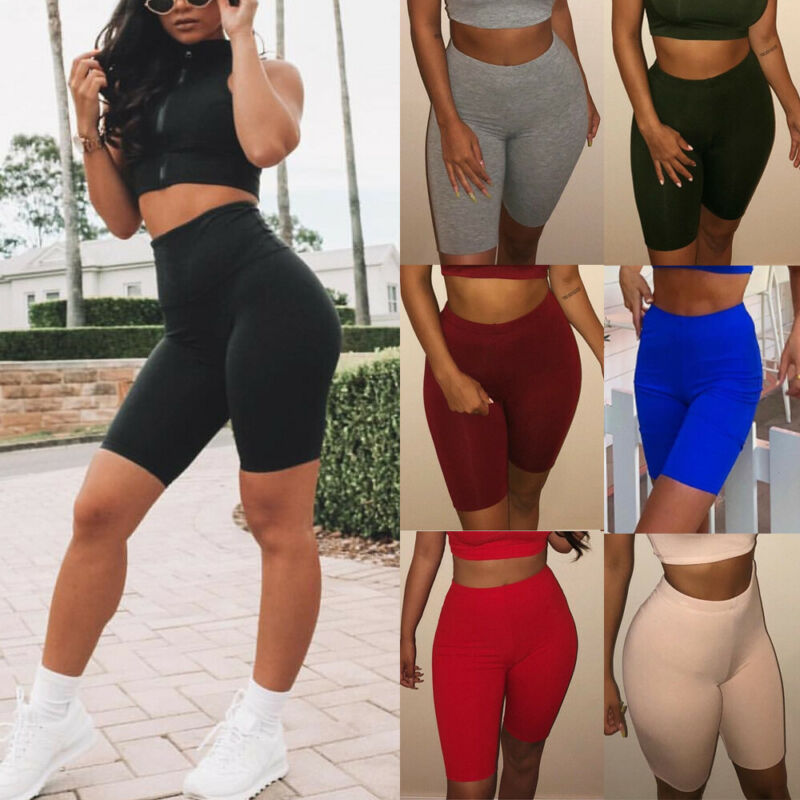 Women Cycling Yoga Shorts Gym Biker Hot Pants Cotton Legging