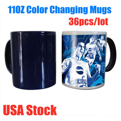 11oz Blank Sublimation Full Color Changing Mugs Glossy Magic Cup 36pcspack