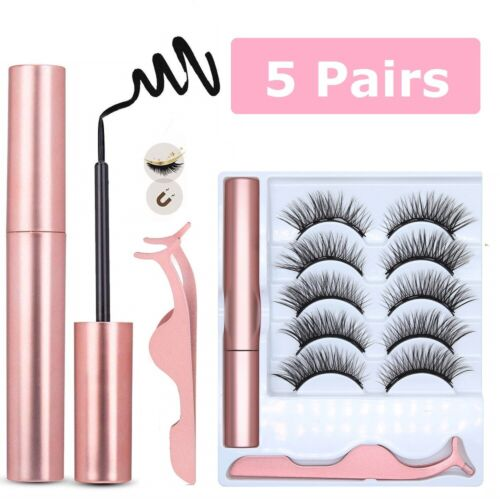 10 Pcs Magnetic False Eyelashes Lashes with Magnetic Liquid Eyeliner Kit Eyes