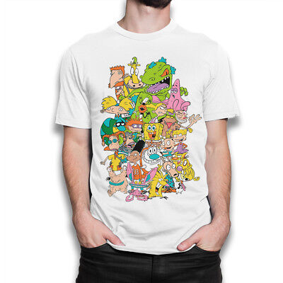 Nickelodeon Old School Cartoons T-shirt, 90's Awesome Combo Tee, All Sizes