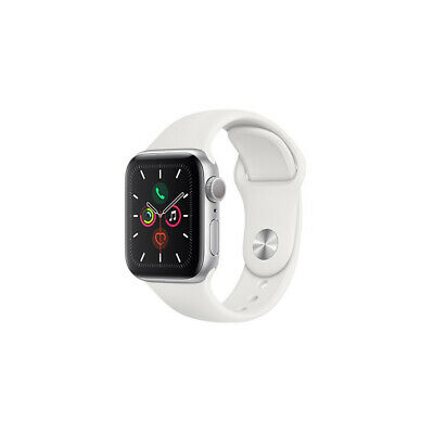 Apple WATCH SERIES 5 GPS MWV62 40MM SILVER ALUMINIUM CASE WITH WHITE SPORT BAND