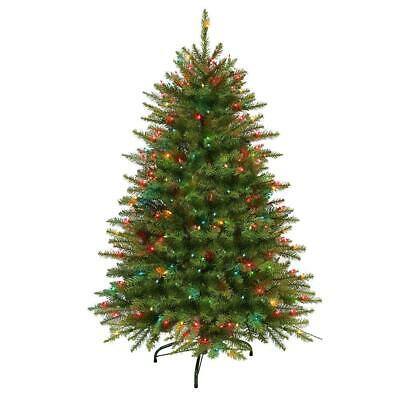 Artificial Christmas Tree 4.5 ft. Pre-Lit Fraser Fir...250 Multi-Colored Lights (Fraser Fir Christmas Tree)