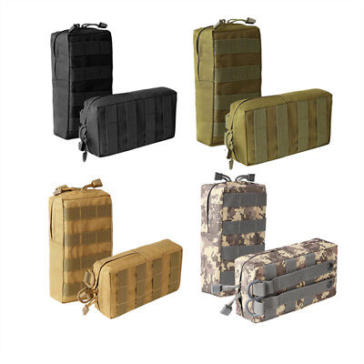 - 2x Tactical Molle Pouch Compact Waterproof Utility Gear Pouch Bag for Magazine