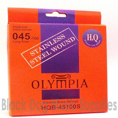 OLYMPIA Alta Calidad Acero Inoxidable Cuerdas bajo Eléctrico 45100 Calibre