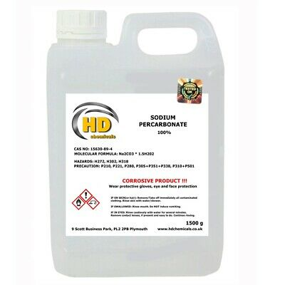 1500g Sodium Percarbonate *Pure Coated Oxygen Cleaner Bleach* 100% PURE *FREE PP