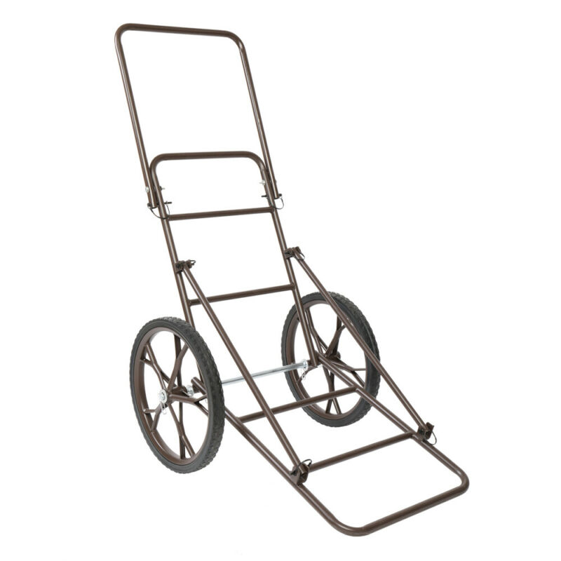 Folding Deer Cart Large Capacity Hauler Utility Gear Dolly Cart Outdoor Hunting