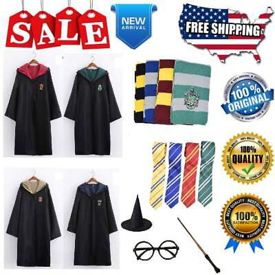 Harry Potter Costume Full Set for Kids & Adult Ravenclaw Gryffindor Accessories