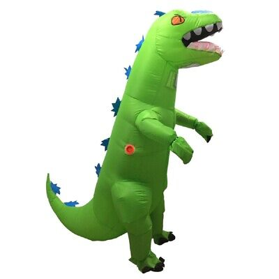 US Seller Reptar Dinosaur T-REX Inflatable Adult Costume