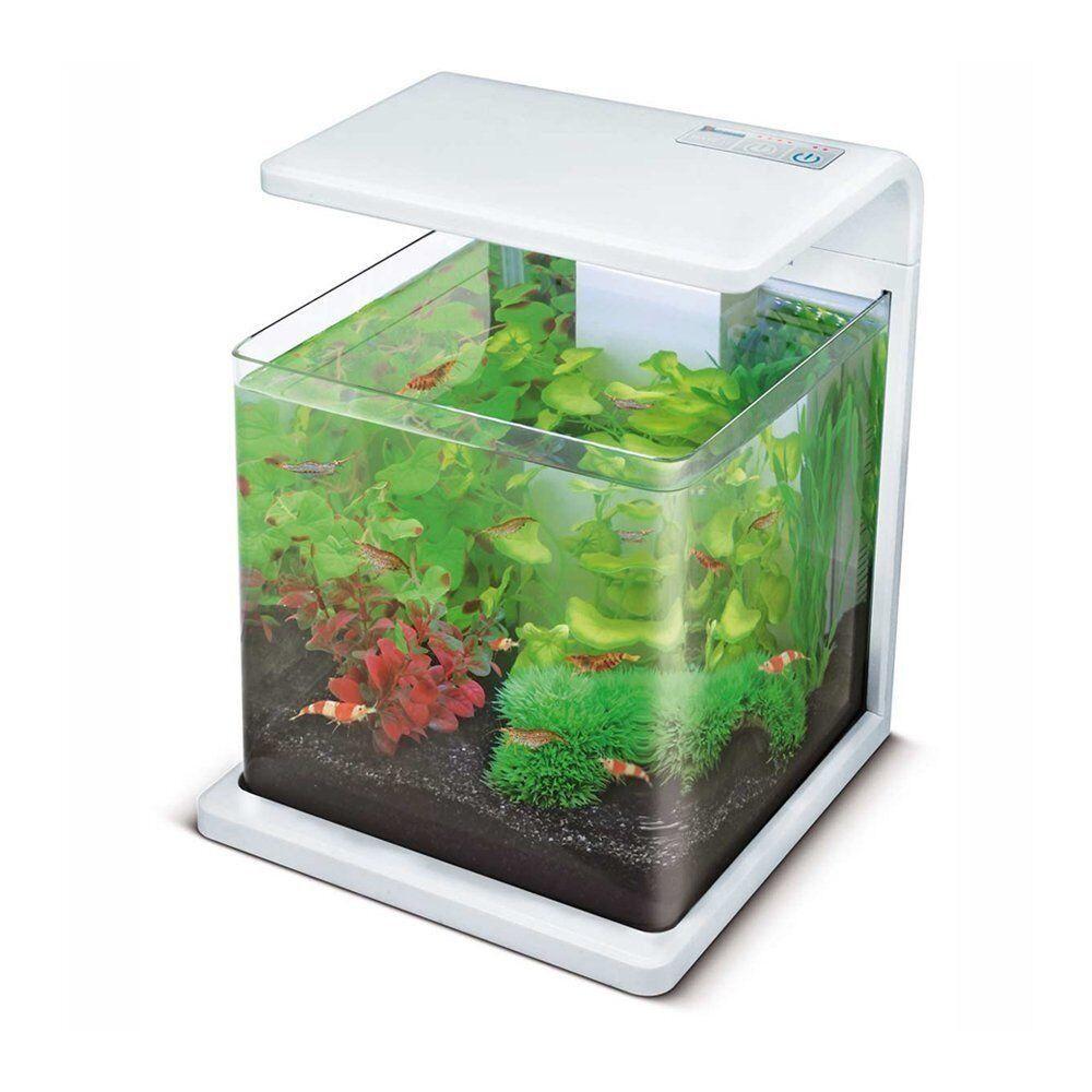 Superfish wave 15 aquarium fish tank white 15l plus for Fish aquarium accessories