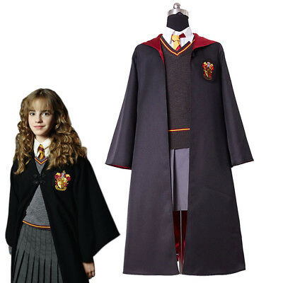 Kid Version Hermione Granger Cosplay Costume Kid Child Gryffindor Uniform Dress - Costume Hermione Granger