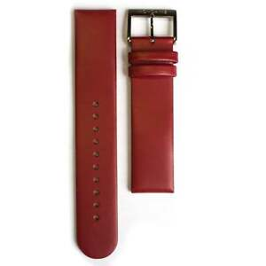 Mondaine Red Leather Strap (Fits 36mm Case / 20mm Lug)