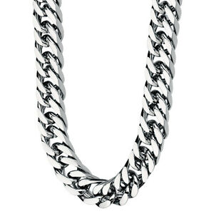 Fred Bennett Stainless Steel Men's Curb Chain Necklace - 56cms - 66grams