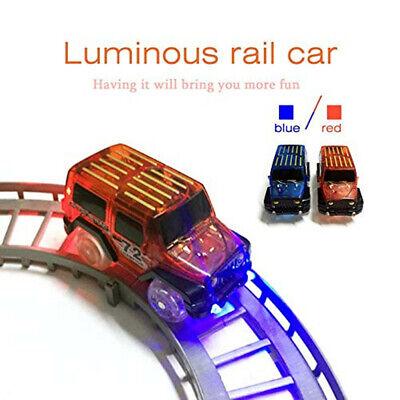 LED Licht Up Spielzeug Kinder Phantasie Elektronik Tracks Auto Kühlen Blinkende