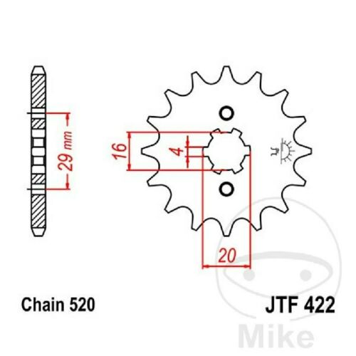 Chain DID 520MX Sprocket 12 Sprocket 50 Gbs Yamaha YZ 125