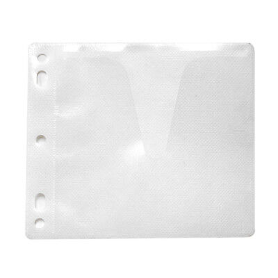 1000 Non Woven Cd Dvd White Single Side Binder Sleeve Cover Storage Case Holder