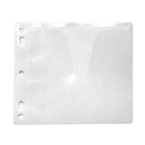 100 Non Woven CD DVD White Single Side Binder Sleeve Cover Storage Case Holder