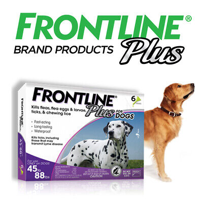 Frontline Plus for Large Dog(45-88lbs)Flea and Tick Treatment 6-Doses,New Sealed