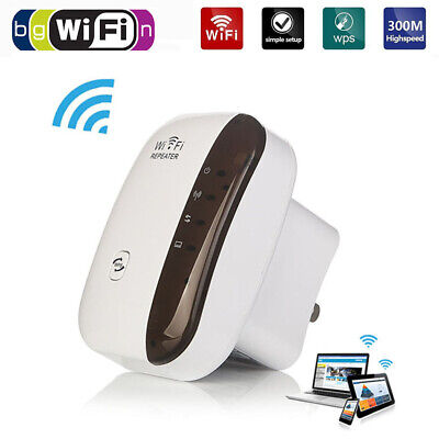 New Wireless Signal Booster WiFi Range 300Mbps Extender Amplifier WiFi Repeater