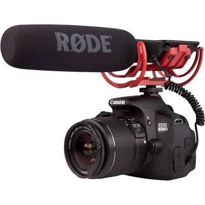 Professional Rode VIDEOMIC Camera Mounted Microphone for Canon Nikon Sony DSLR