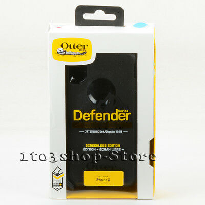 OtterBox Defender iPhone X   iPhone Xs Shell Case w Holster Belt Clip Black  Uesd 1ac6d87bd7ab