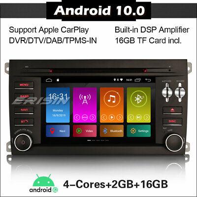 Android 10 Car Stereo SatNav Radio GPS Head Unit DAB DVD SWC for Porsche Cayenne