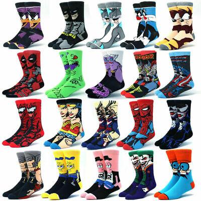 Men and women Cartoon Anime Star Wars Super Hero Novelty Breathable Cotton Socks