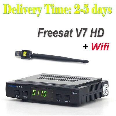 Freesat V7 HD DVB-S2 Digital Satellite TV Receiver decoder + USB WIFI Hotest US