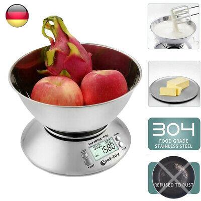 Küchenwaage Digitalwaage Haushaltswaage LCD Waage 2L Schale Feinwaage 1g - 5kg Küchenwaage