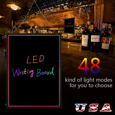 32x24 Flashing Illuminated Fluorescence Led Message Menu Sign Writing Board