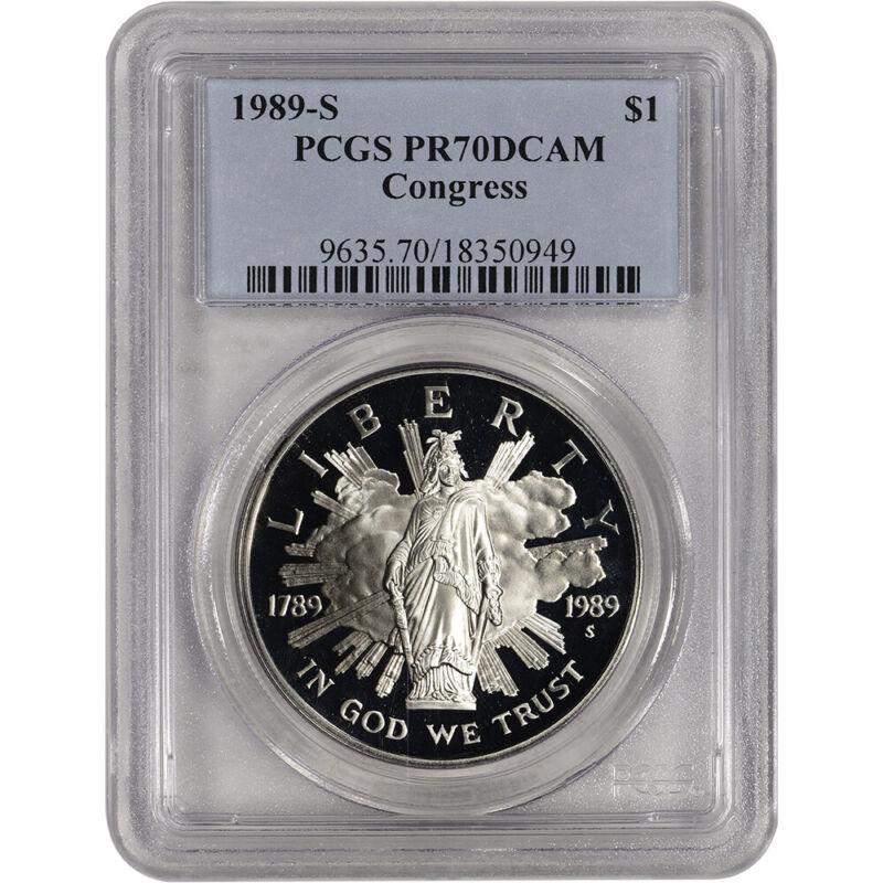 1989-S US Congressional Commemorative Proof Silver Dollar - PCGS PR70 DCAM