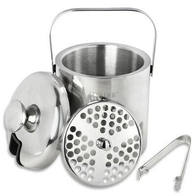 Schramm® Eiswürfelbehälter Edelstahl 1,3 Liter Sektkühler Eiswürfelbehälter Eisk