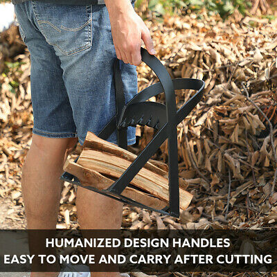 Seesii Cast Iron Double Handles Stable Wood Splitter for Campsite Fireplace Use