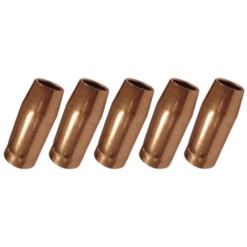"5-pk 5/8"" 198855 Nozzle for Miller Spoolmatic & XR Series Welding Gun"